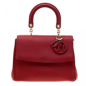Dior Red Leather Small Be Dior Shoulder Bag