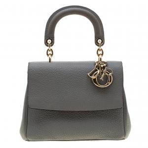 Dior Grey Leather Mini Be Dior Shoulder Bag