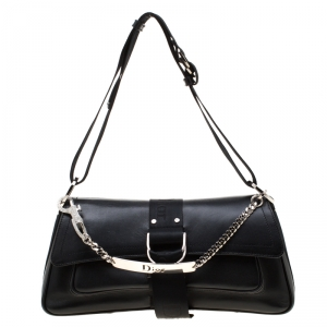 Dior Black Coated Canvas Hardcore Shoulder Bag