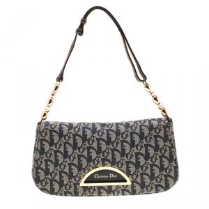 Dior Blue Monogram Denim Maris Pearl Shoulder Bag