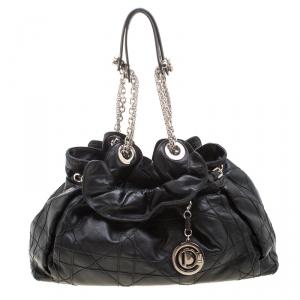 Christian Dior Black Cannage Leather Le Trente Shoulder Bag