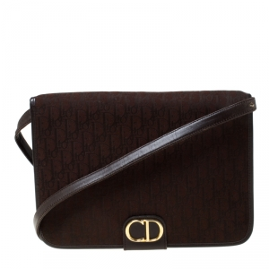 Dior Brown Oblique Canvas Crossbody Bag