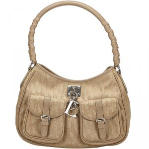 Dior Brown/Beige Canvas Oblique Lovely Everyday Bag