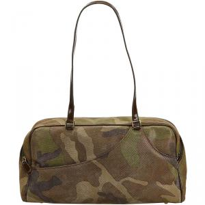 Dior Green Camouflage Suede Shoulder Bag