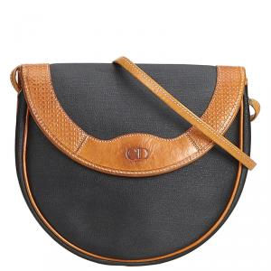Dior Blue/Brown Canvas Crossbody Bag