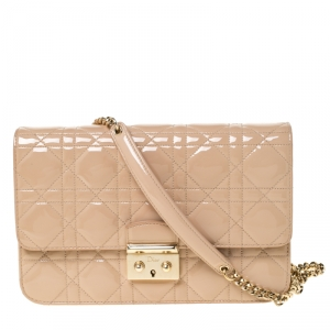 Dior Nude Cannage Leather Miss Dior Promenade Shoulder Bag