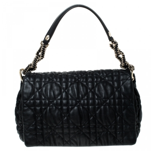 Dior Black Quilted Leather Flap Shoulder Bag
