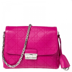 Dior Hot Pink Leather Small Diorling Shoulder Bag