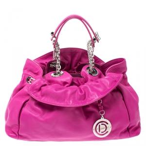Christian Dior Magenta Leather Le Trente Shoulder Bag