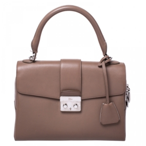 Dior Nude Leather New Lock Top Handle Bag