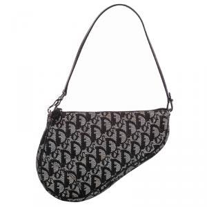 Dior Oblique Canvas Mini Saddle Bag