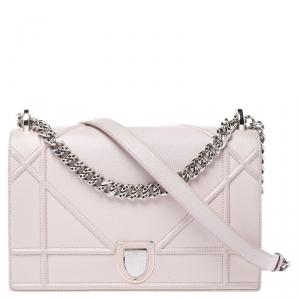 Dior Pink Leather Medium Diorama Flap Shoulder Bag