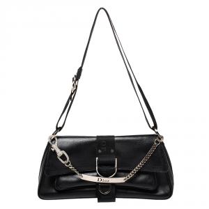Dior Black Leather Hardcore Shoulder Bag