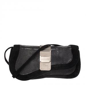 Dior Black Suede and Stingray Crossbody Bag