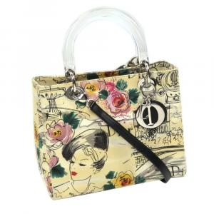 Christian Dior Printed Canvas Lady Dior Bag