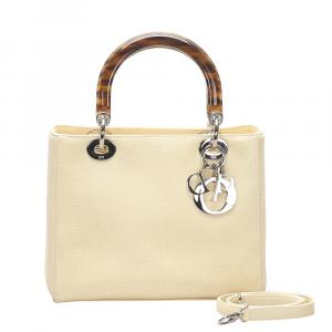 Christian Dior Beige Lady Dior bag