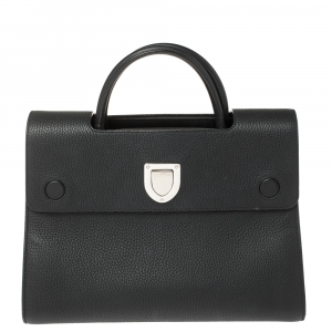 Dior Black Leather Medium Diorever Bag