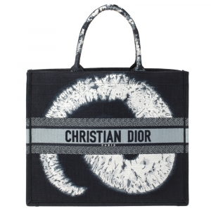 Dior Blue/White Canvas Tie Dye Book Tote