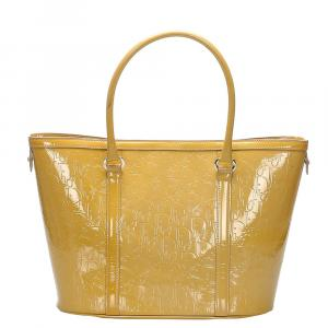 Dior Yellow Leather Oblique Tote Bag