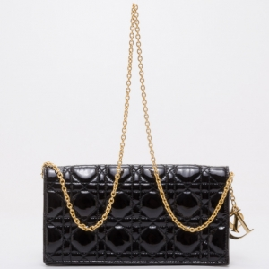 Dior Lady Dior Patent Cannage Evening Bag