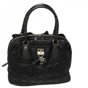 Dior Black Cannage Nylon Charming Doctor Bag