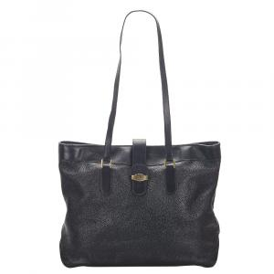 Dior Black Leather Tote Bag