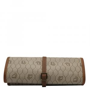 Dior Brown Monogram Canvas Vintage Jewl Pouch Bag