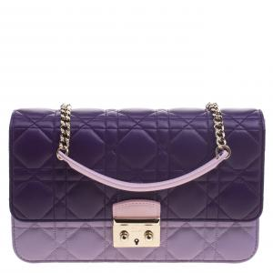 Dior Tri Color Cannage Leather Miss Dior Promenade Pouch