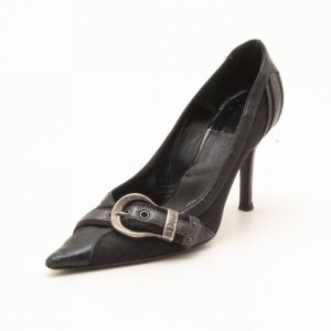 Dior Black Pointed Toe Buckle Pumps Size 35.5