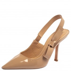 Dior Nude Patent Leather Sweet D J'adior Pumps Size 40