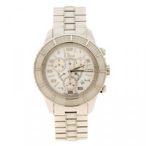 Dior White Stainless Steel Christal Women's Wristwatch 39 mm