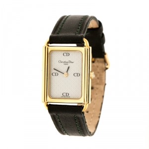 ساعة يد نسائية كريستيان ديور 58.122.2 مطلي ذهب رصاصي فاتح 20 مم