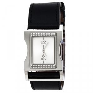 ساعة يد نسائية ديور كريس 47 CD033112 الماس ستانلس ستيل فضية 30 مم