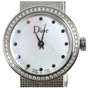 Christian Dior SS MOP Diamond Womens Wristwatch 23 MM