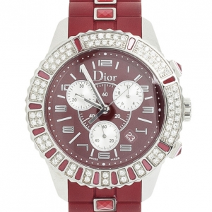 Christian Dior Christal Diamond & Sapphire Womens Chronograph 38MM