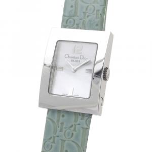 Dior White Stainless Steel Oblique Malice Women's Wristwatch 25 x 19 MM