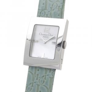 Dior White Stainless Steel Oblique Malice Women's Wristwatch 25 x 19 MM