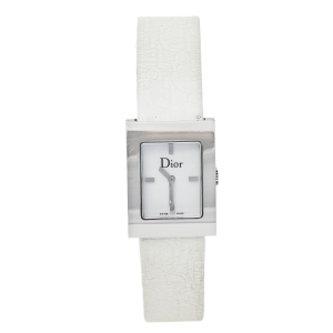 Dior Mother Of Pearl Stainless Steel Leather Malice D78-109 Women's Wristwatch 19 mm