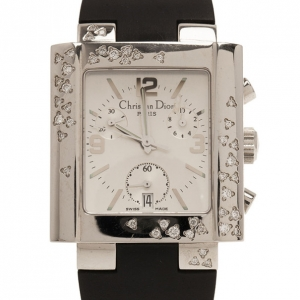 Dior White Stainless Steel Classic Women's Wristwatch 31MM