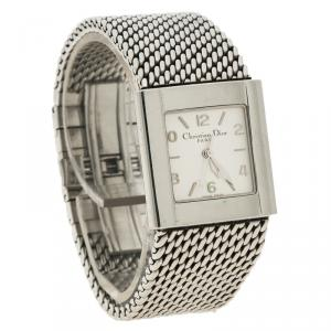 Christian Dior Silver Stainless Steel D79-100 Women's Wristwatch 28MM