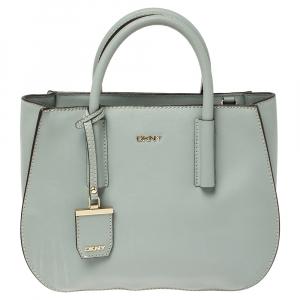 DKNY Pale Blue Leather Bryant Park Shoulder Bag