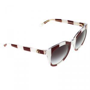 Dolce and Gabbana Red/White DG4249 Striped Sunglasses