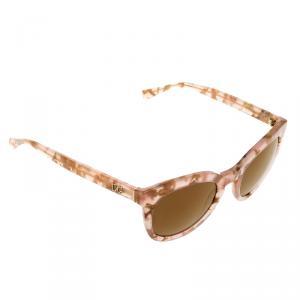 Dolce and Gabbana Powder Marble,Bronze Mirror DG4249 Wayfarer Sunglasses