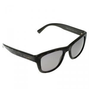 Dolce and Gabbana Black/Gold Mirrored DG4284 Wayfarer Sunglasses