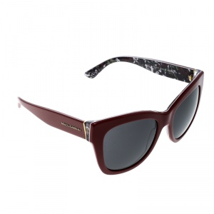 Dolce and Gabbana Red/Black DG 4270 Butterfly Sunglasses
