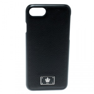 Dolce and Gabbana Black Logo Plaque iPhone 7 Case