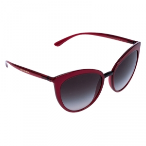 Dolce & Gabbana Burgundy/Black Gradient DG 6113 Cateye Sunglasses