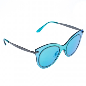 Dolce and Gabbana Blue/Green DG2172 Mirror Cat Eye Sunglasses
