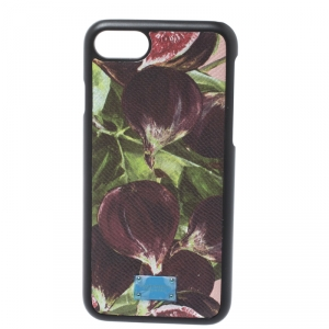 Dolce & Gabbana Multicolor Floral Print Leather iPhone 7/8 Case
