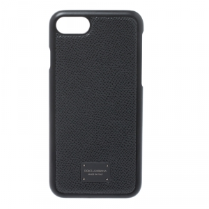 Dolce & Gabbana Black Leather iPhone 7/8 Case